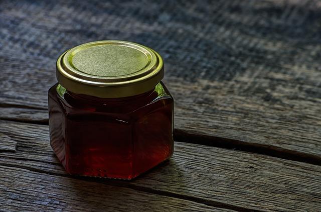 sklenička medu