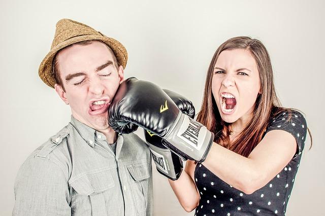 hádka mezi mužem a ženou